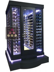 Expo Model - Single temperature Cellar – 3 glass walls – Suspended Bottles and Horizontal Shelves – Ageing or Service WINEROOM