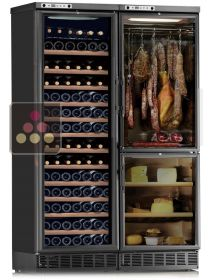 Combined built-in multi-temperature wine cabinet, cheese & cold meat cabinet CALICE