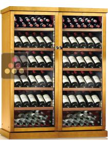Combined 2 Single temperature wine service or storage cabinets CALICE