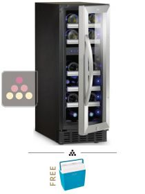 Dual temperature wine cabinet for storage and/or service DOMETIC