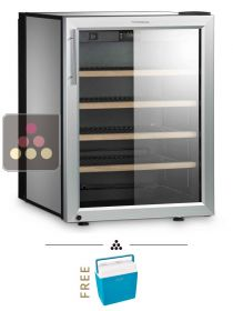 Single temperature silent wine cabinet for storage or service DOMETIC