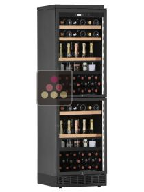 Dual door 2 temperatures wine cabinet for standing bottles - can be fitted CALICE