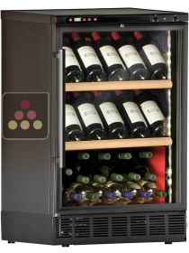 Built-in dual temperature wine cabinet for wine storage and/or service CALICE