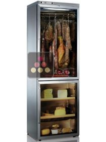 Combination of delicatessen & cheese cabinets - Freestanding - Stainless steel coating  CALICE