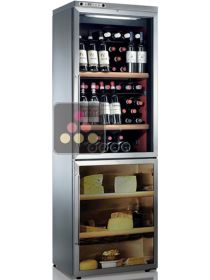 Combination of wine & cheese cabinets - Freestanding - Stainless steel coating CALICE