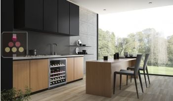 Built-in single temperature wine cabinet for storage or service