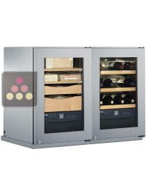 Combined cigar, wine and chocolate cabinet