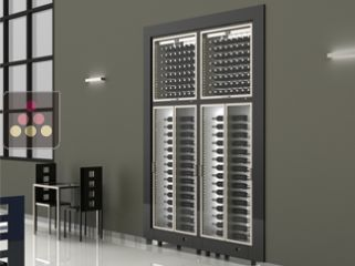 Combination of four built-in modular multi-purpose wine cabinets