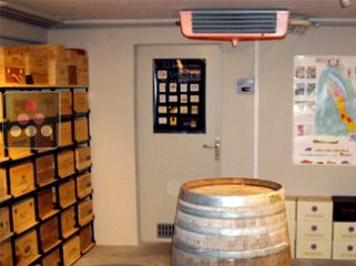 Air conditioner for natural wine cellar up to 25m3 - with humidity management and noise reduction kit