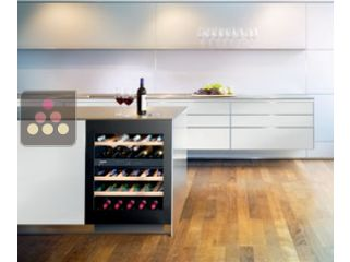 LIEBHERR dual temperature wine cabinet for storage and service - can be fitted