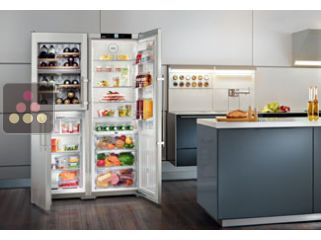 LIEBHERR combined wine cabinet, freezer, refrigerator & ice maker with biofresh area