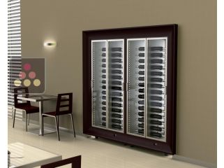Combination of two CALICE modular built in multipurpose wine cabinets