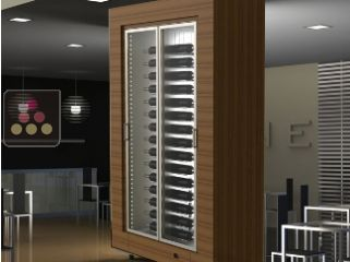 Freestanding multi-purpose CALICE wine cabinet for storage or service