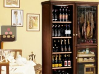 Gourmet combination : wine cabinet, cheese cabinet & cold meat cabinet