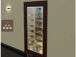 Built-in refrigerated display cabinet for chocolate storage