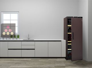 Single temperature wine ageing cabinet