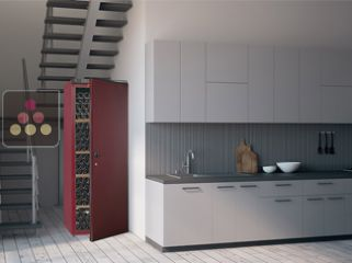 Single-temperature wine cabinet for ageing