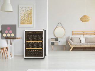 Multi temperature wine service and storage cabinet