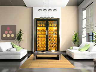 ELLEMME dual temperature contemporary wine storage or service cabinet