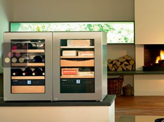 LIEBHERR Combined cigar, wine and chocolate cabinet